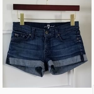 7 For All Mankind Roll Cuff Jean Shorts